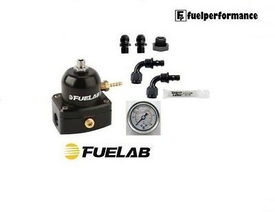 FUELAB Fuel Pressure Regulator EFI & DIY AN Fittings Install Kit (BLACK) 51502-1