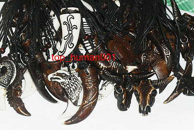 Fashion Bulk Lots Mixed Style Lots 30str Bone Men's Tribal Necklaces/Pendents