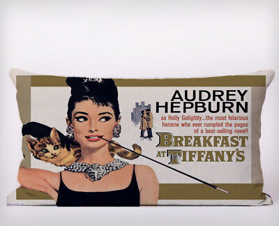 Cat Audrey Hepburn Long Cushion Covers Pillow Cases Home Decor or Inner