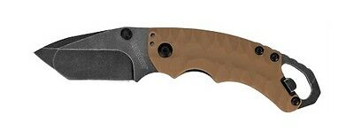 Kershaw Shuffle II Tan Knife Lifetime Warranty From Kershaw