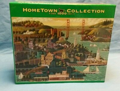 """FACTORY SEALED! Roseart Hometown Collection 1000 Piece Puzzle  """"San Francisco"""""""