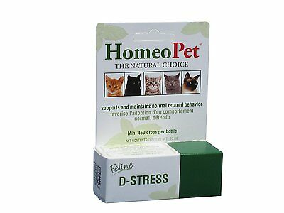 Homeopet Feline Anxiety Relief Drops by HomeoPet 4731 FREE SHIPPING NEW