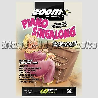 Zoom Karaoke DVD - Piano Singalong 60 Tracks, 2 DVDs Cockney Knees Up DVD Player