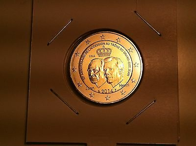 2 Euro Luxembourg 2014 Accession Trone Grand Duc Commemorative Neuve