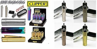 Clipper Metal Lighter Engraving Personalised Engrave Gift Box Birthday Present