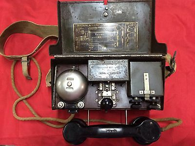 Rare Ww2 Military Field Telephone + Morse Tele Set D Mk V Wwii British Australia