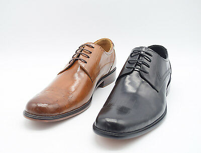 Men Leather Shoes Smart Wedding Italian Lace Up Oxford Office Dress Boys Shoes