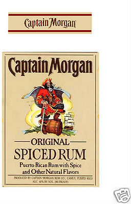 Captain Morgan Spiced Rum birthday edible icing cake topper - add message
