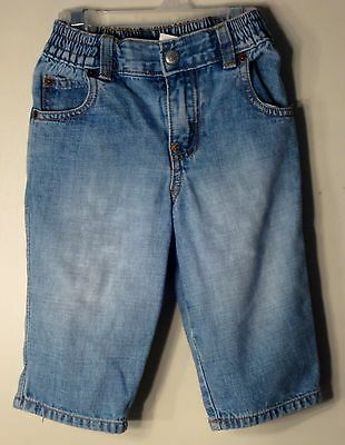 babyGAP Size 18-24 Months Boys Front Zipper Blue Denim Shorts