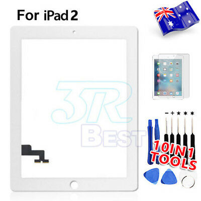 Front Glass Touch Lens Digitizer For ipad 2 Screen Replacement White Repair Kit