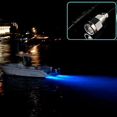 """720 Lumens Blue 6 led 1/2"""" NPT Underwater Boat Drain Plug Light With Connector"""