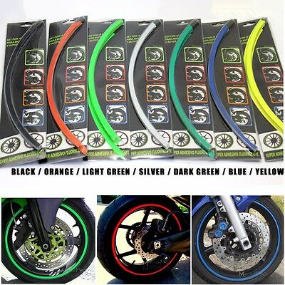 "UNIVERSAL 17"" INCH Motorbike WHEEL RIM STRIPE FIT MOTORCYCLE CAR STICKER DECAL"