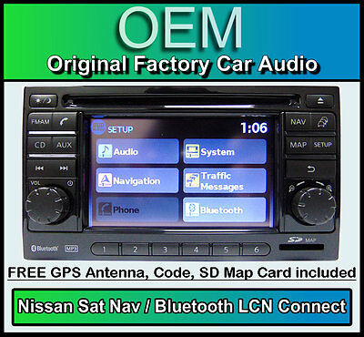 Nissan Note Sat Nav car stereo with Map SD Card, LCN Connect CD player radio