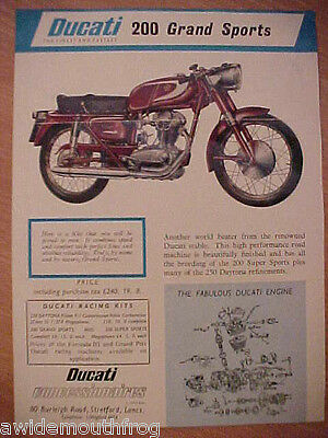 Ducati 200 Grand Sports for 250 Daytona, 200 Grand Sports & 200 Super Sports