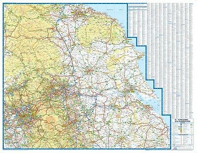 Yorkshire & Humberside Road Map by A-Z Maps (Wall Map, Paper)