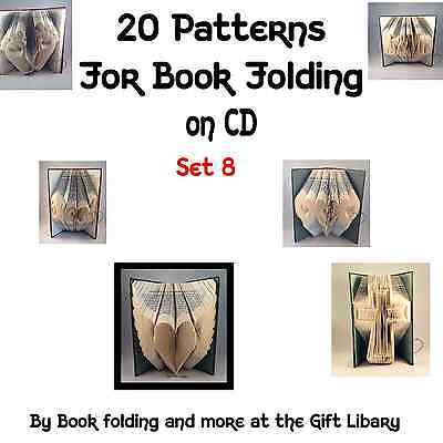20 Book Folding PATTERNS create your own folded book art SET 8 on CDrom
