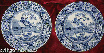 "1 - Lot of 2 - Wedgwood Pattern X9297 5 3/4"" Bread & Butter plates (2015-149)"