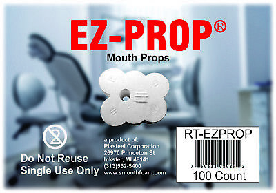 "Ez-Prop Disposable Mouth Prop ""MANUFACTURER DIRECT""  100/bx FREE SHIPPING!!!"