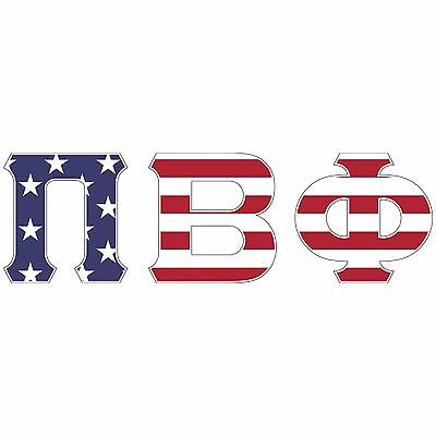 pi beta phi usa letter sticker outside carcomputer c