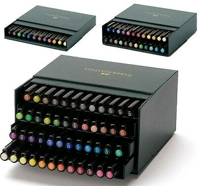 Faber Castell Pitt Brush Artists Pen Tiered Gift Box Set of 12 - 24 - 48