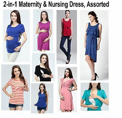 2-in-1 Maternity&Nursing Dresses,Assorted Maternity&Breastfeeding Dresses,Tops