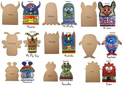 Mosaic Monster Bases - 10 Monster shapes to choose from!