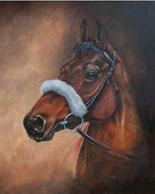 "Art Repro oil painting:""Horse In canvas"" 24x36 Inch"