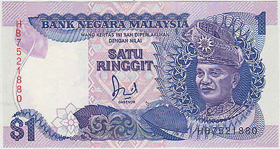 (Wp-99) 1982 Malaysia $1 Ringgit Bank Note Unc (H)
