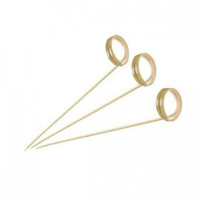 100 x Disposable Bamboo Skewer w Swirled End, 120mm, Catering, Functions, Party