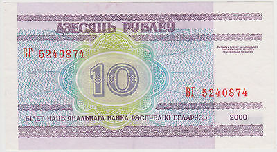 (WP-58) 2000 Belarus 10 ruble bank note UNC (M)
