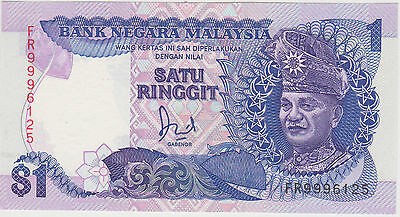 (Wp-103) 1982 Malaysia $1 Ringgit Bank Note Unc (L)