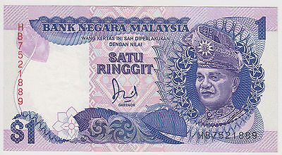 (Wp-101) 1982 Malaysia $1 Ringgit Bank Note Unc (J)