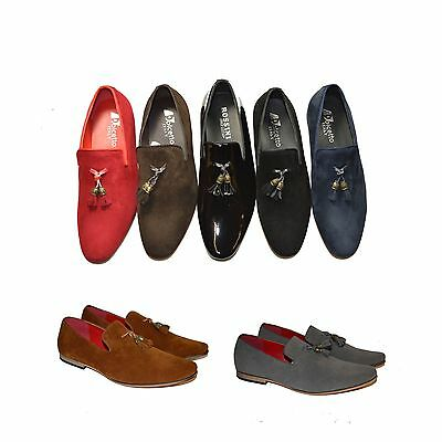 New Mens Italian Loafers Mocasins With Tassels Casual Smart Driving Shoes UK6-11