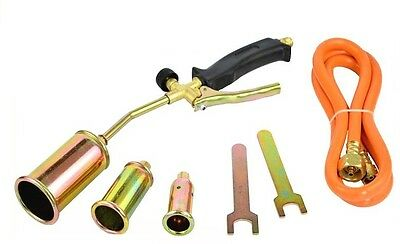 Propane Butane Gas Heating Torch Burner Hose Regulator Roofers Plumbers Kit BEST