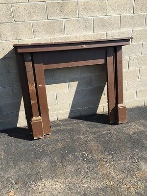 Cm 52 Antique Quartersawn Oak Fireplace Mantel