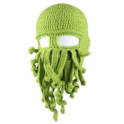 Winter Unisex Mens Womens Kids Tentacle Octopus Beanie Ski Mask Knit Cosplay Hat
