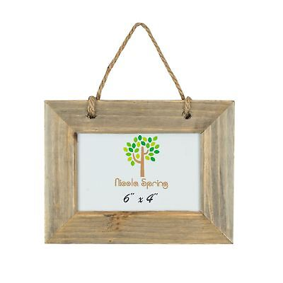 """Wooden Shabby Chic Rustic Driftwood Hanging Photo Picture Frame-6x4"""""""