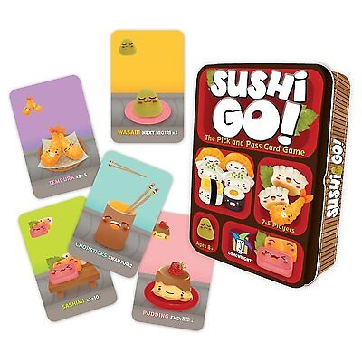 Sushi Go!: Pick and Pass Card Game  by Gamewright - Ages 8+  2-5 players