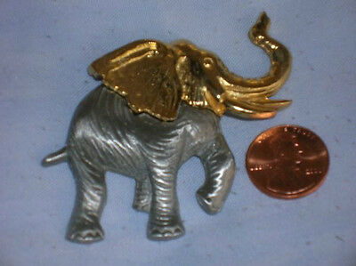 Gold and Pewter Elephant Pin