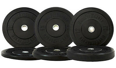 New 180 lbs Black Olympic Bumper Rubber Weight Plates For Exercise OneFitWonder