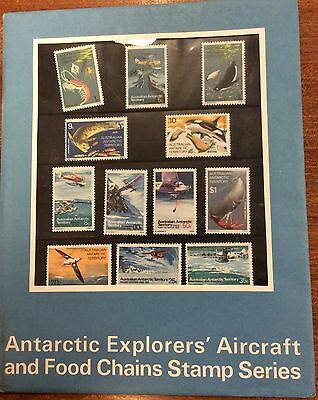1973 AAT food chain and explorers aircraft presentation pack MUH