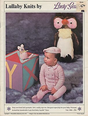 Lullaby Knits by Lady Galt vintage 1973 knitting patterns for infants