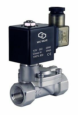 "1/2"" Inch Slow Closing Anti Water Hammering Solenoid Valve NC 12V DC Viton"