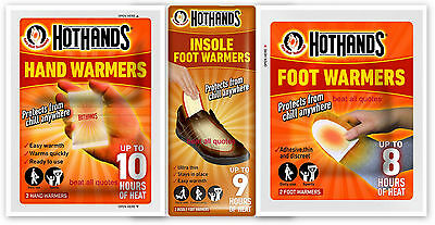 Hot Hands Warmth Hand Feet Foot Insole Sports Heat Warming Warmers Ideal Gift