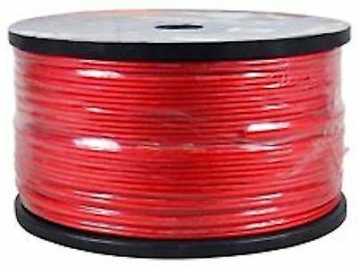 IMC Audio 1000 FT 18 Gauge Speaker Cable Wire Roll For Home or Car RED