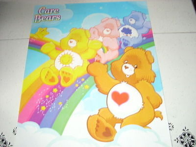 CARE BEARS Sliding Down the Rainbow 16x20 Poster