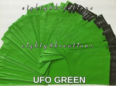 UFO GREEN Colored 6x9 Flat Poly Mailers Shipping Postal Packaging Envelopes Bags