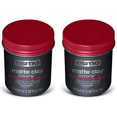 Osmo Matte Clay Extreme Hold Texture Wax (2 x 100ml)