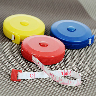 Mini Retractable Ruler Tape Measure 60inch Sewing Cloth Dieting Tailor 1.5M Aus