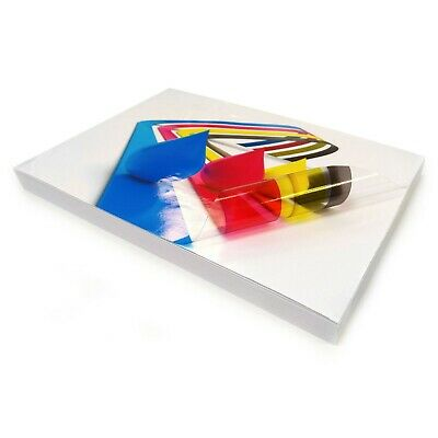 A4 Transparent VINYL INKJET Print Glossy Strong Self Adhesive Label Stickers